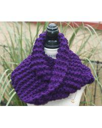 Etsy Purple Long Scarf