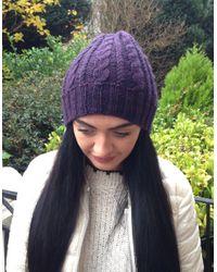 Etsy Purple Cashmere Hat