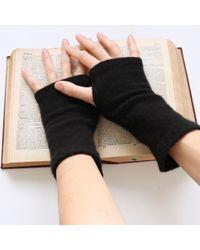 Etsy Black Soft Cashmere Wrist Warmers