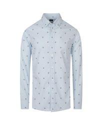 BOSS Orange Blue Relegant Button-up Shirt for men