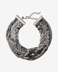 Express - Multicolor Mesh Knot Necklace - Lyst