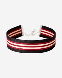 Express - Multicolor Sporty Striped Choker Necklace - Lyst