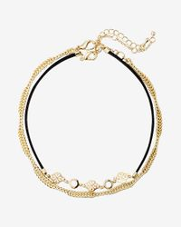 Express   Metallic Set Of Two Filigree Twist Chain Choker Necklaces   Lyst