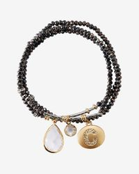 Express | Black Faceted C Initial Stretch Bracelet | Lyst
