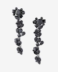 Express | Black Stone Cluster Drop Earrings | Lyst