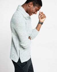 Express Multicolor Marled Funnel Neck Sweater for men