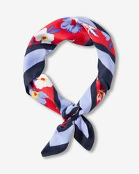 Express - Red Ditsy Floral Print Square Neckerchief - Lyst