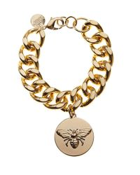 Express - Metallic Edition Polished Bee Charm Chain Bracelet - Lyst