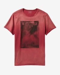 Express | Red Bowery Stage Graphic Tee for Men | Lyst