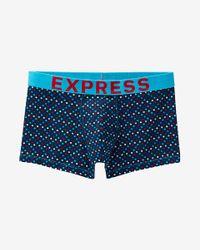Express Blue Mini Dot Sport Trunk for men