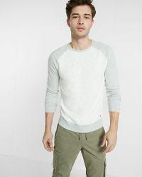Express | Multicolor Textured Slub Long Sleeve Crew Neck Tee for Men | Lyst