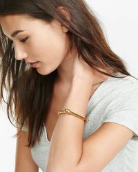 Express Multicolor Jessica Elliot Gold Highland Cuff Bracelet
