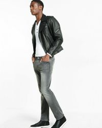 Express Slim Fit Slim Leg Gray Perfomance Stretch Jeans for men