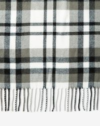 Express Multicolor Fringed Plaid Scarf