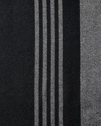 Express Black And Gray Striped Scarf for men
