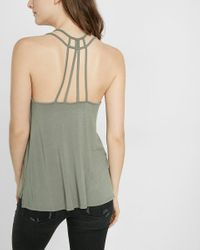 Express | Green One Eleven Strappy Back V-neck Cami | Lyst