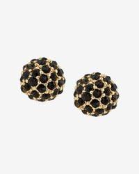 Express Black Fireball Post Earrings