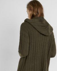 Express Green Hooded Knee-length Cover-up