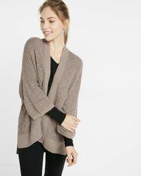 Express | Gray Kimono Sleeve Cover-up | Lyst