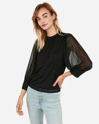 Express Blouson Sleeve Top Black