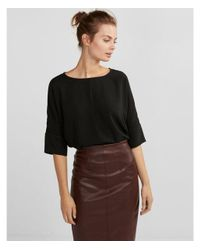 Express Black Silky Cocoon Blouse
