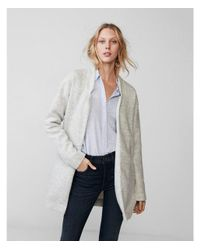Express Gray Petite Oversized Knit Cover-up