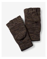 Express - Green Cotton Flip Top Gloves - Lyst
