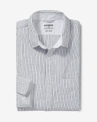 Express | White Soft Wash Striped Shirt for Men | Lyst