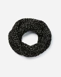 Express Black Chunky Knit Marled Snood