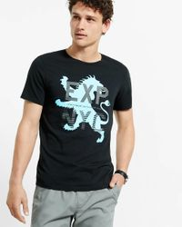 Express Black Exp Nyc Lion Graphic T-shirt for men