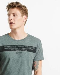 Express Gray Mastermind Defined Graphic T-shirt for men