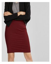 Express Red High Waisted Extreme Stretch Pencil Skirt