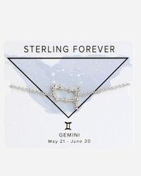 Express Metallic Sterling Forever Silver Gemini Constellation Bolo Bracelet Silver