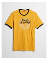 Express Yellow Big & Tall Knit Seal Graphic Tee for men