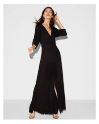 Express Black Deep V-neck Dolman Maxi Dress