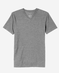 Express | Blue Flex Stretch Textured V-neck Tee for Men | Lyst