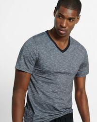 Express | Gray Space Dyed Slub Knit Flex Stretch V-neck Tee for Men | Lyst
