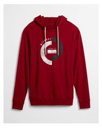 Express Red There Is No Reward Without Risk Graphic Hoodie for men