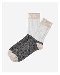 Express | Gray Marled Color Block Boot Socks | Lyst