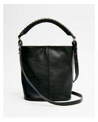 Express - Black Studded Mini Bucket Bag - Lyst