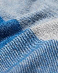 Express Check Woven Scarf Blue for men