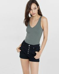 Express Gray One Eleven Double V Tank