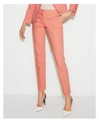 Express Pink Low Rise Columnist Ankle Pant