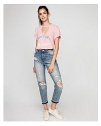 Express Pink Support Day Drinking Choker Tee
