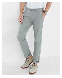 Express Skinny Hayden Flex Stretch Light Gray Chino Pant for men