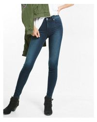 Express Blue High Waisted Supersoft Stretch Jean Leggings