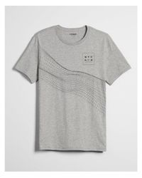 Express - Gray Eo Linear Twist Graphic Tee for Men - Lyst