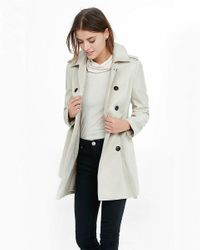 Express | Natural Classic Trench Coat With Trapunto Stitch Sash | Lyst