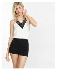 Express Black High Waisted Zip-back Shorts
