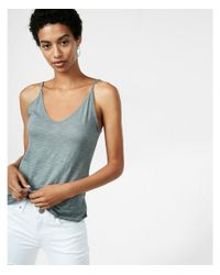 Express - Gray Double V Cami - Lyst